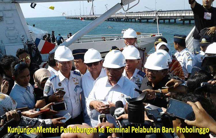 Kunjungan Menhub RI ke Terminal Pelabuhan Baru Probolinggo