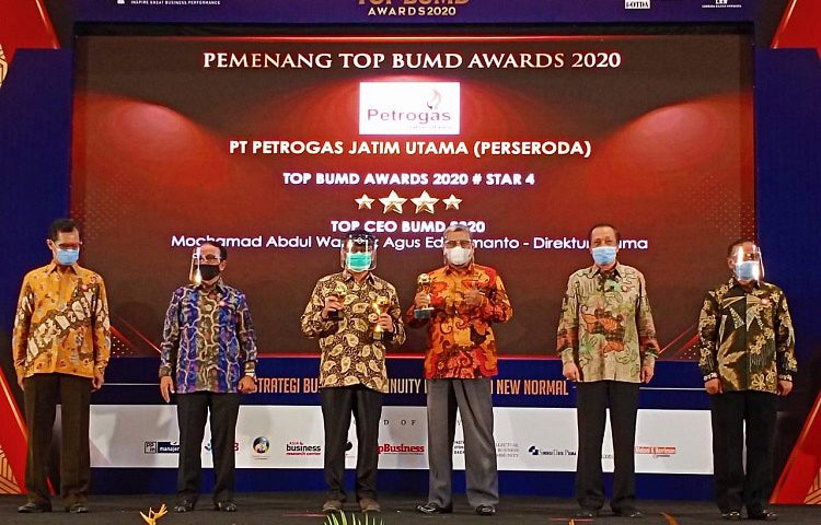 PT Petrogas Jatim Utama Raih Top BUMD Awards 2020