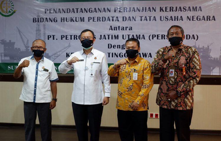 PT. PJU Gandeng Kejati Jatim Kerjasama Bidang Hukum